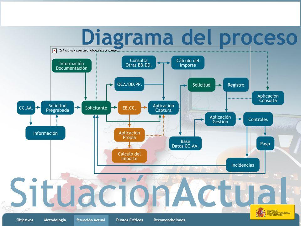 SituaciónActual ObjetivosMetodologíaSituación ActualPuntos CríticosRecomendaciones Diagrama del proceso