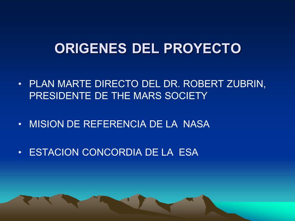 ORIGENES DEL PROYECTO PLAN MARTE DIRECTO DEL DR. ROBERT ZUBRIN, PRESIDENTE DE THE MARS SOCIETY MISION DE REFERENCIA DE LA NASA ESTACION CONCORDIA DE L