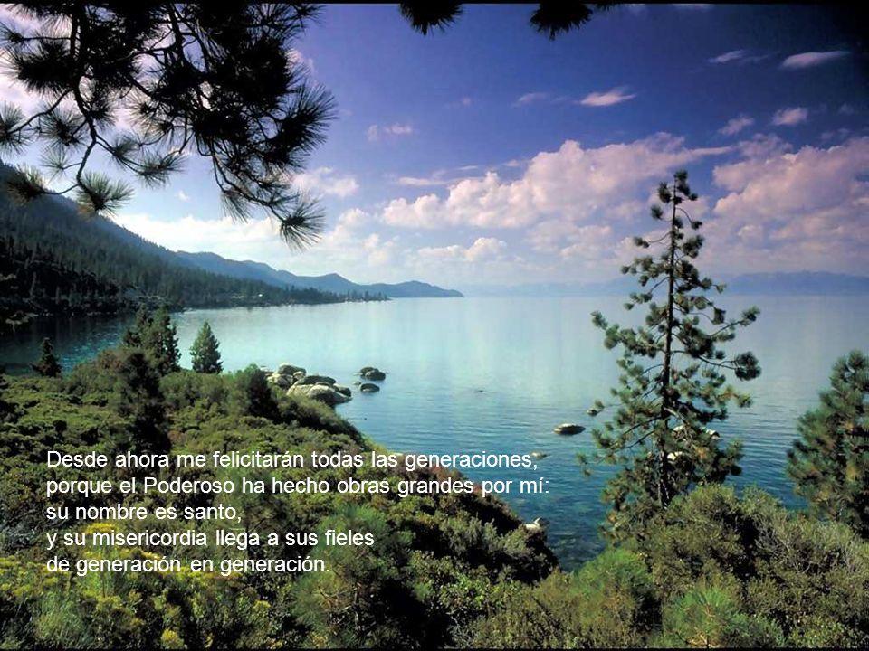 Proclama mi alma la grandeza del Señor, se alegra mi espíritu en Dios, mi salvador; porque ha mirado la humillación de su esclava.