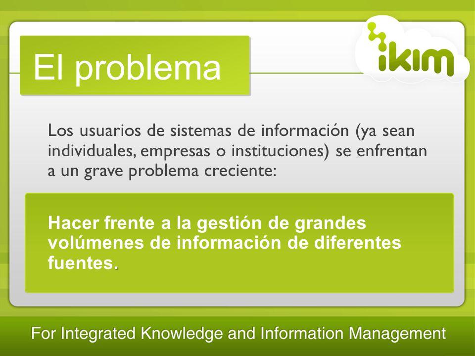 La solución Herramienta web, intuitiva y colaborativa, que ofrece una solución real al problema de gestión de información y del conocimiento.