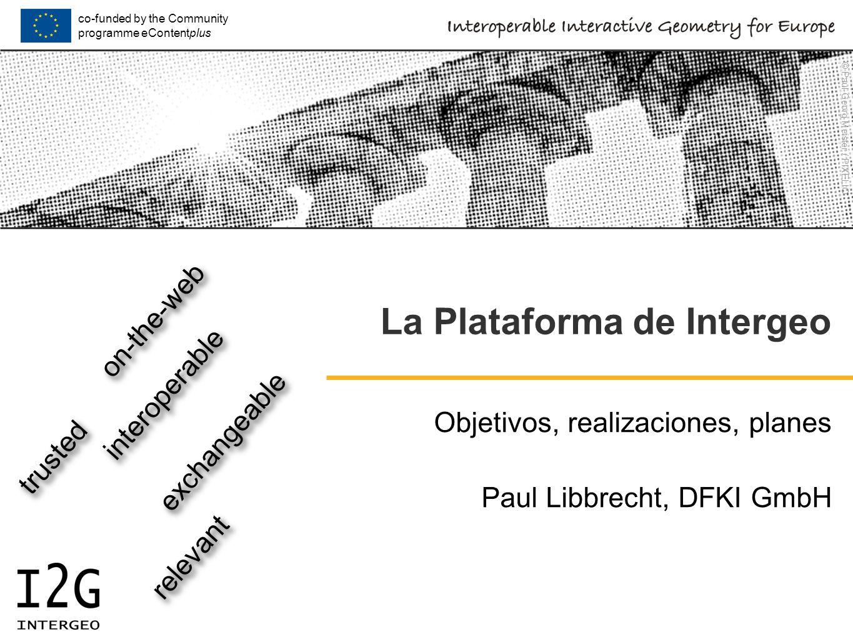Local User-Meeting, Castro Urdiales, 2009-03-27 © Paul Libbrecht - DFKI GmbH - CC-BY-SACC-BY-SA2 Transparencias Funciones de la plataforma Lo que se quiere, lo que existe, los problemas Realización de la plataforma funcionalidades actuales en progreso servicios de construcción búsqueda quality framework Planes Demo 2