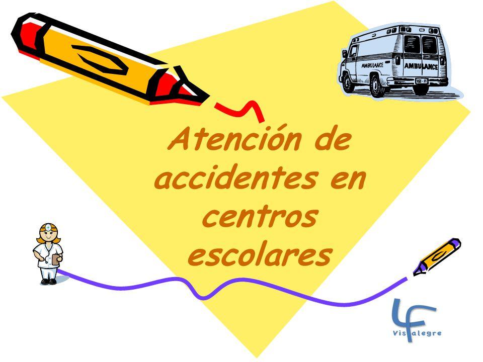 Atención de accidentes en centros escolares