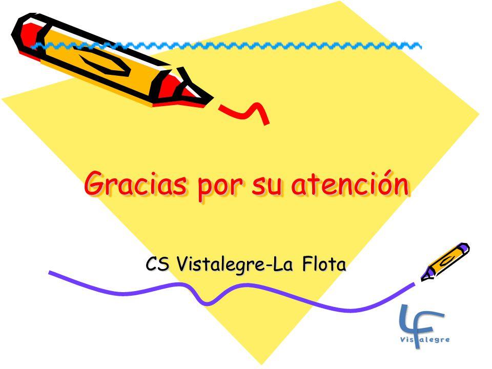Gracias por su atención CS Vistalegre-La Flota