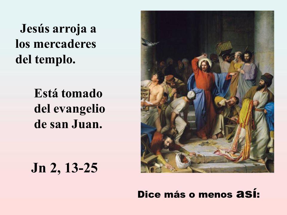 La violencia de Jesús no es vindicativa sino liberadora.