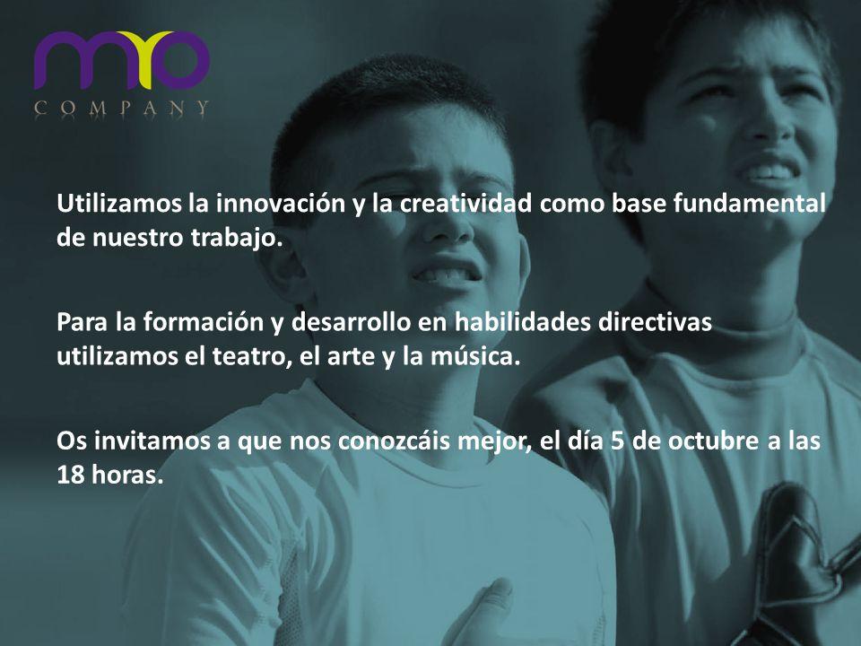 Utilizamos la innovación y la creatividad como base fundamental de nuestro trabajo. Para la formación y desarrollo en habilidades directivas utilizamo