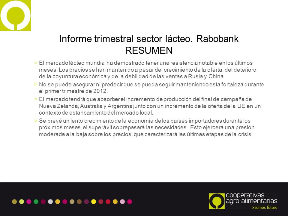 7 Informe trimestral sector lácteo.