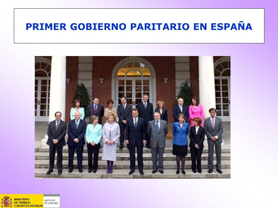 PRIMER GOBIERNO PARITARIO EN ESPAÑA