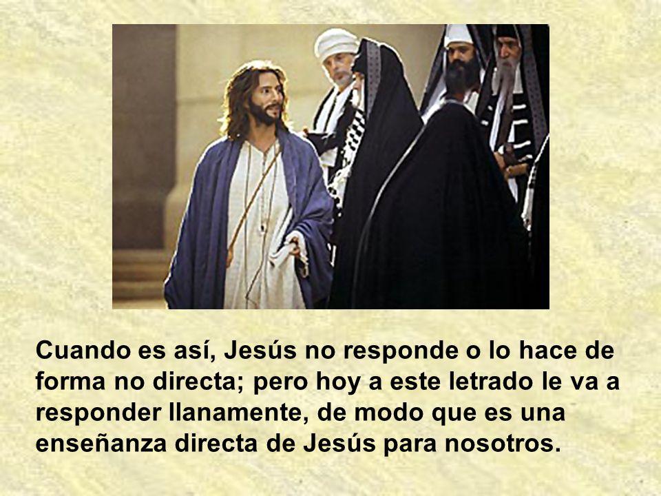En varias ocasiones encontramos escribas que le preguntan algo a Jesús.