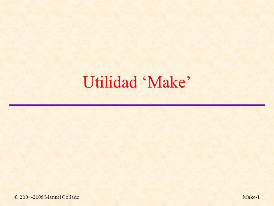 © 2004-2006 Manuel ColladoMake-1 Utilidad Make