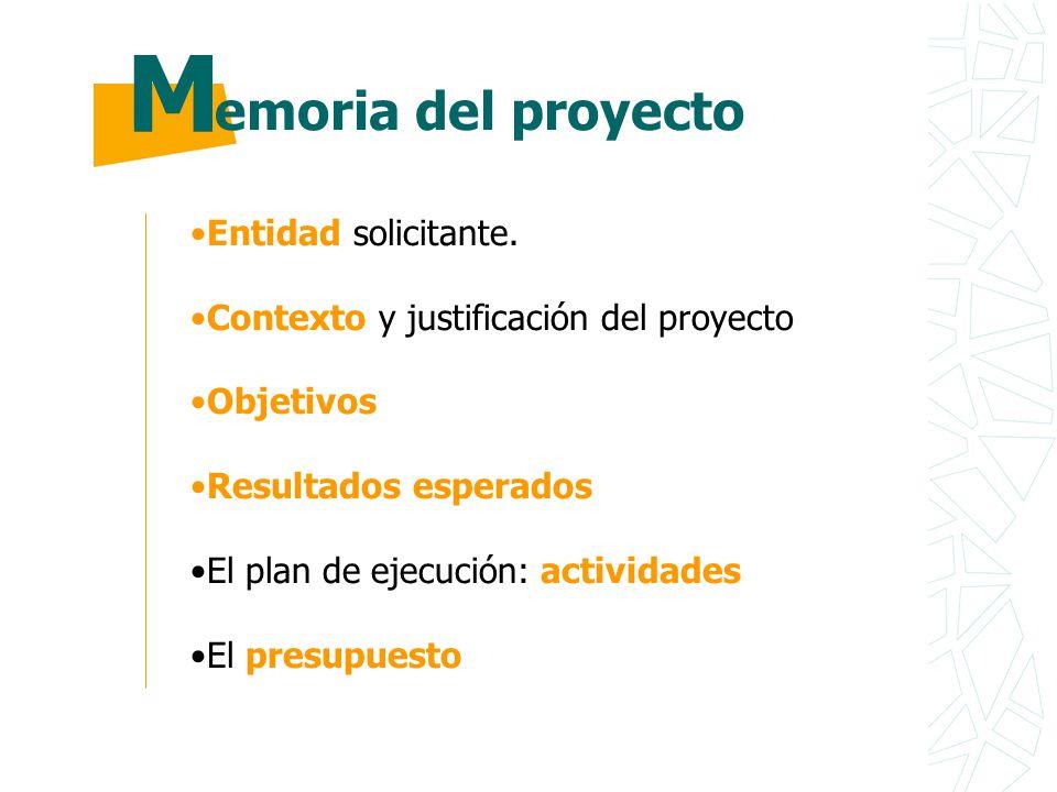 ¿Q¿Q Información detallada acerca de la entidad u organización que presenta el proyecto.