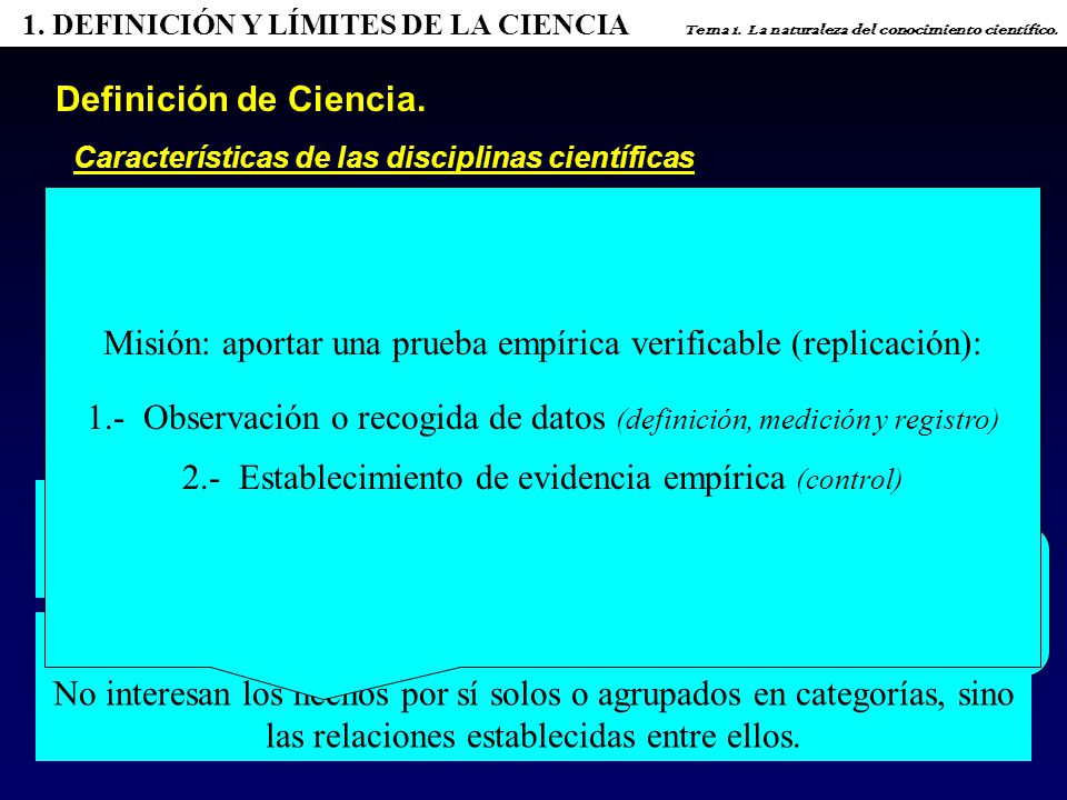 2.3.3.TEORÍA ANARQUISTA DEL CTO. DE FEYERABEND Tema 1.