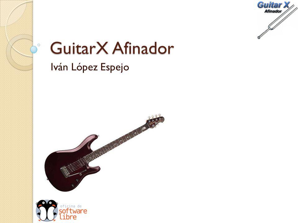 GuitarX Afinador Iván López Espejo