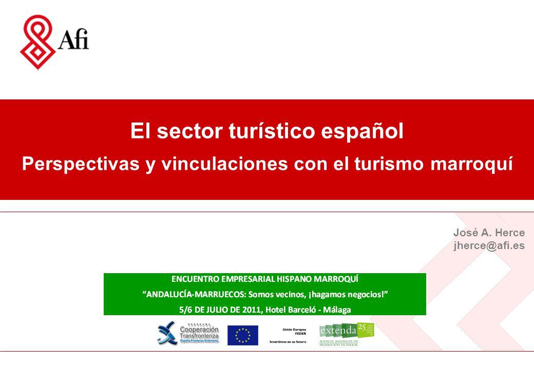 El sector turístico español – Vinculaciones con Marruecos 2 Índice I.El turismo en el contexto global II.Situación y perspectivas del sector turístico español III.Potencial de vinculación entre el turismo español y el marroquí
