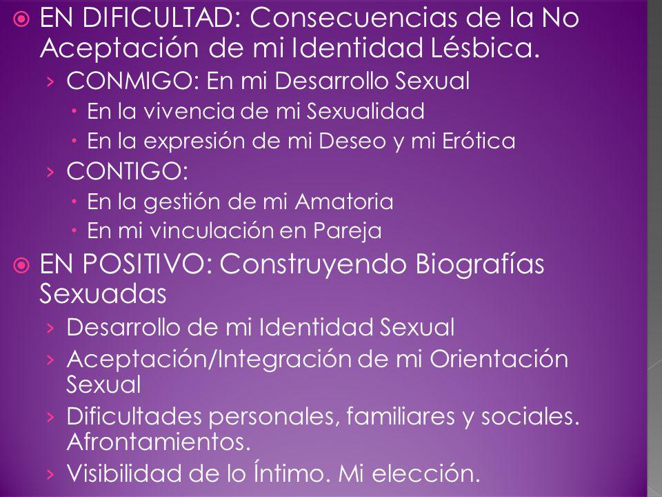 EN DIFICULTAD: Consecuencias de la No Aceptación de mi Identidad Lésbica.