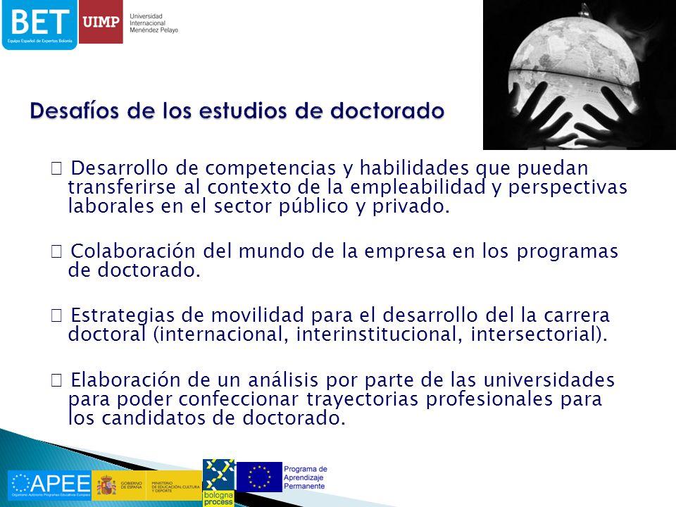Desarrollo de competencias y habilidades que puedan transferirse al contexto de la empleabilidad y perspectivas laborales en el sector público y privado.