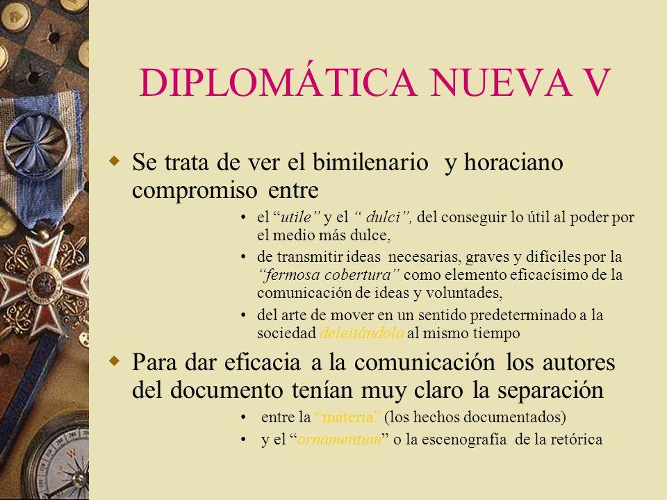DIPLOMÁTICA NUEVA IV Fco. Gimeno Blay invita a diseccionar el documento para ver: –además del mensaje del texto, las estrategias discursivas y las est