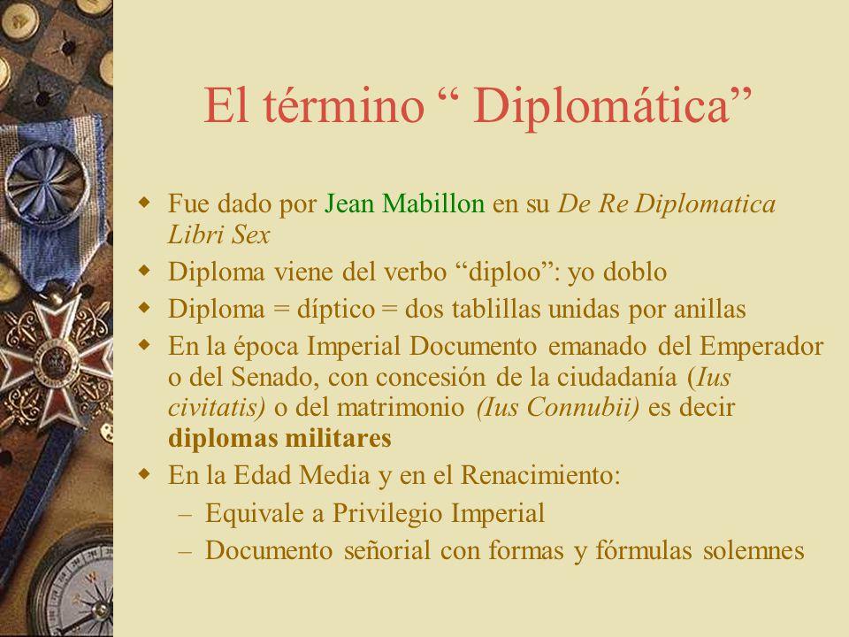 Definición Positivista de Diplomática D el concepto de Diploma a la Diplomática –E–Escritura –C–Contenido jurídico –F–Formas y fórmulas con normas pre