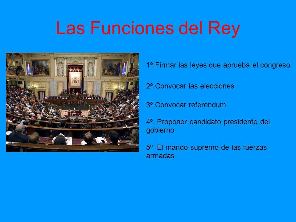 Las Obligaciones del Rey 1º.Respetar la constitución de 1978 2º.