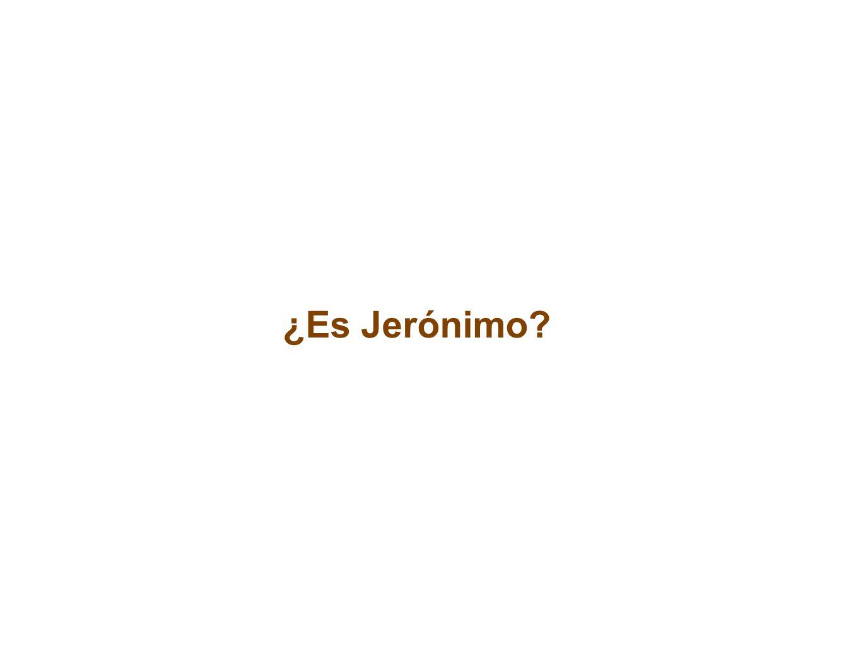 ¿Es Jerónimo