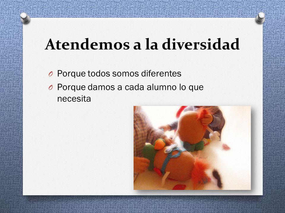 Atendemos a la diversidad O Porque todos somos diferentes O Porque damos a cada alumno lo que necesita
