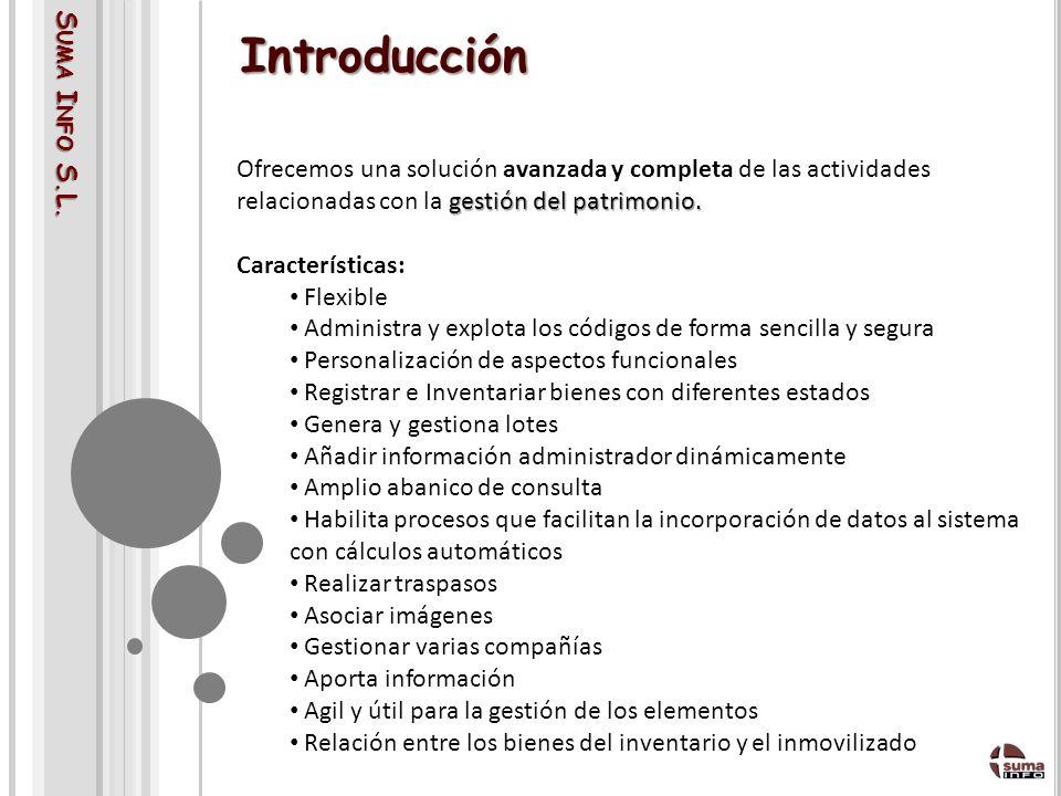 S UMA I NFO S.L.Introducción gestión del patrimonio.