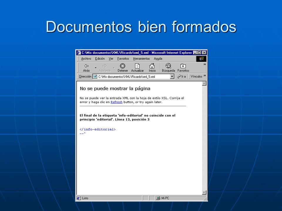 Documentos bien formados