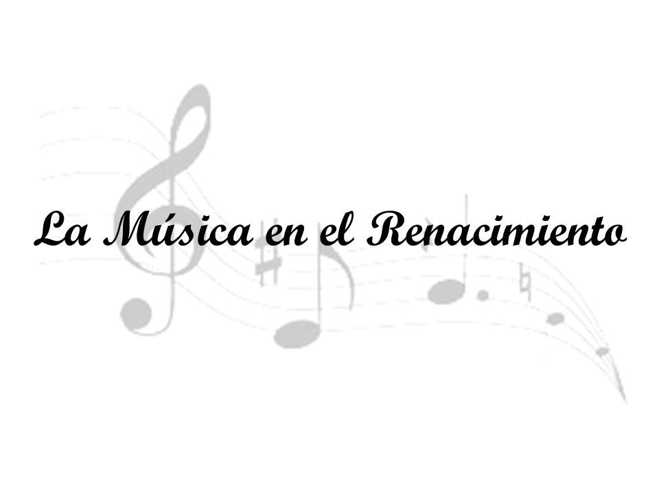 La música del Renacimiento o música renacentista es la música clásica europea escrita durante el Renacimiento, entre los años 1400 y 1600, aproximadamente.