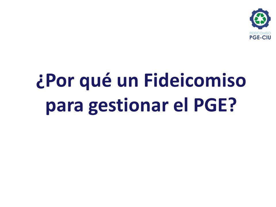 ¿Por qué un Fideicomiso para gestionar el PGE?