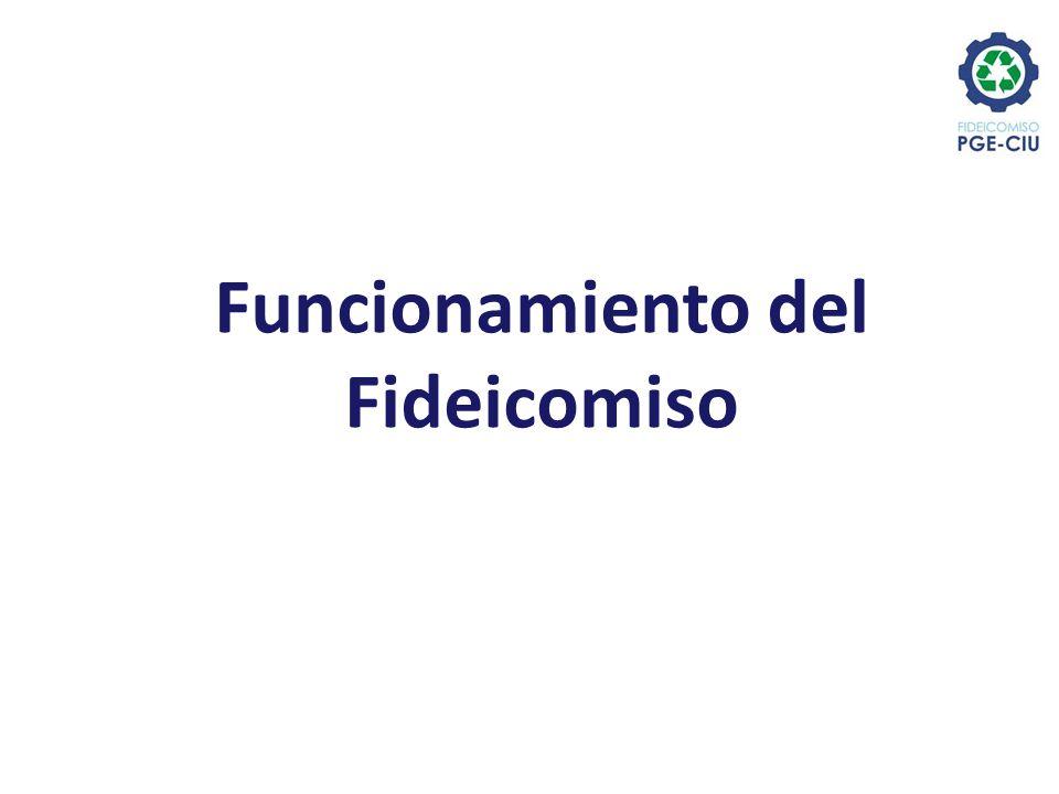 Fideicomiso PGE - CIU CIU Empresas Fideicomitente realiza aporte inicial Facturación de servicios Gastos de gestión del propio Plan CLASIFICADORES 2) Funcionamiento del Fideicomiso ASINUR S.A