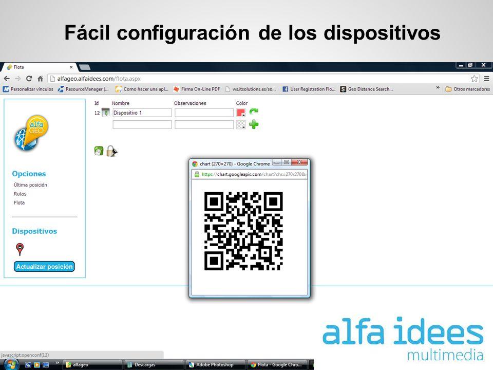 Fácil configuración de los dispositivos