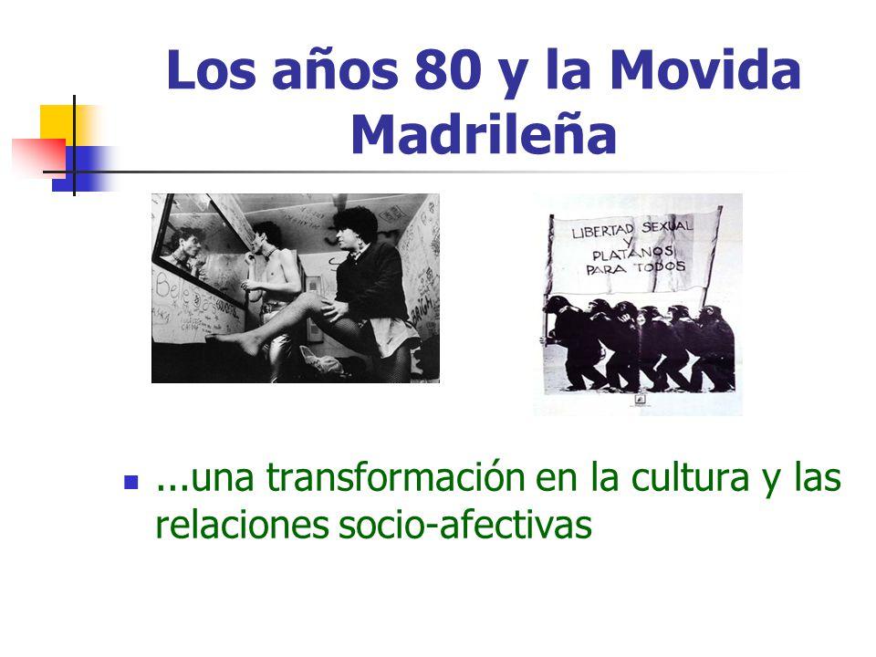 Los años 80 y la Movida Madrileña...una transformación en la cultura y las relaciones socio-afectivas
