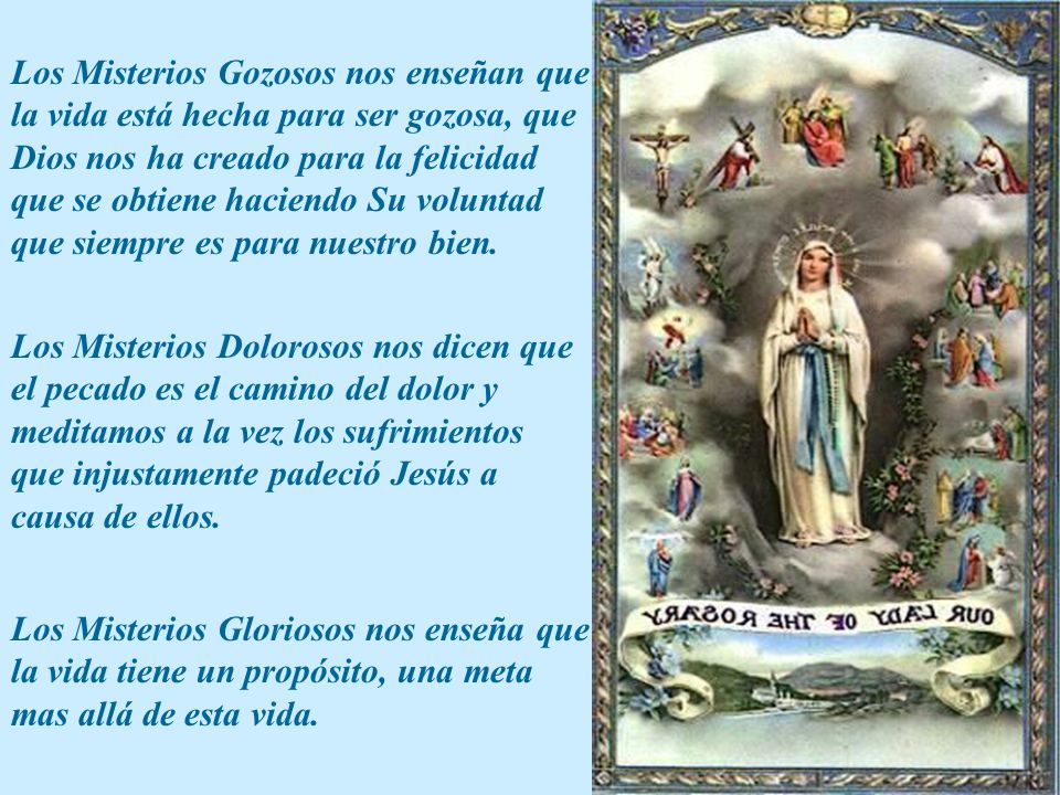 San Francisco de Sales decía que el método más grande de oración es: rezar el Rosario.
