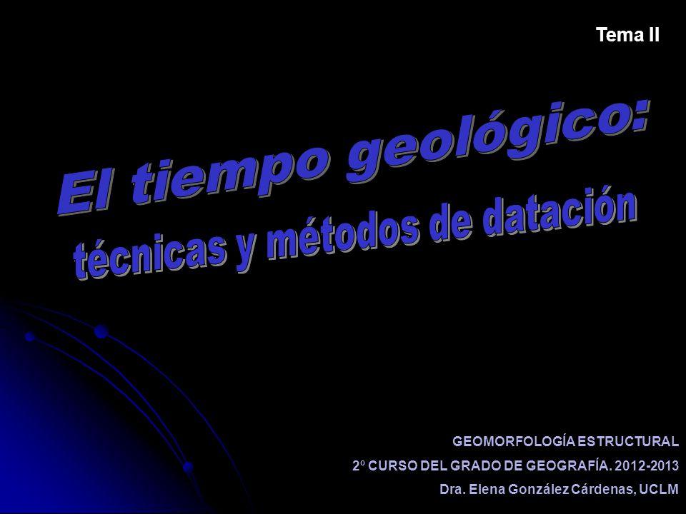 GEOMORFOLOGÍA ESTRUCTURAL 2º CURSO DEL GRADO DE GEOGRAFÍA. 2012-2013 Dra. Elena González Cárdenas, UCLM Tema II