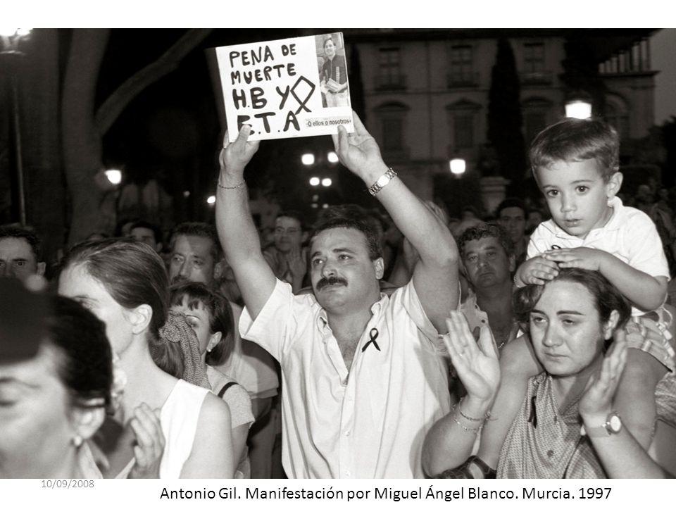 10/09/2008 Antonio Gil. Manifestación por Miguel Ángel Blanco. Murcia. 1997
