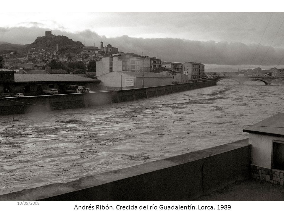 10/09/2008 Andrés Ribón. Crecida del río Guadalentín. Lorca. 1989