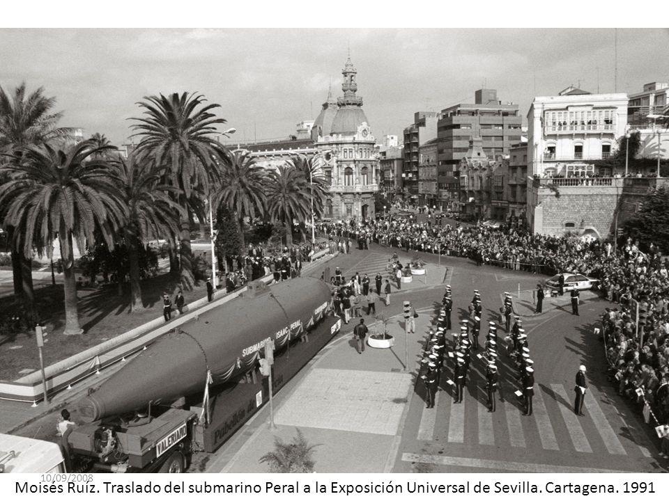 10/09/2008 Moisés Ruíz. Traslado del submarino Peral a la Exposición Universal de Sevilla. Cartagena. 1991