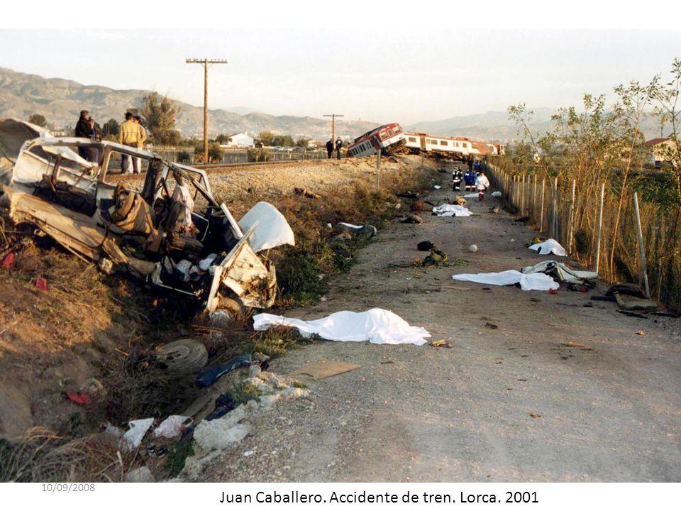 10/09/2008 Juan Francisco Moreno. Accidente en la autovía de Alicante. Murcia. 1991