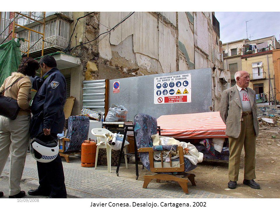 10/09/2008 Javier Conesa. Desalojo. Cartagena. 2002