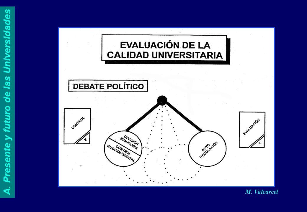 M. Valcarcel A. Presente y futuro de las Universidades