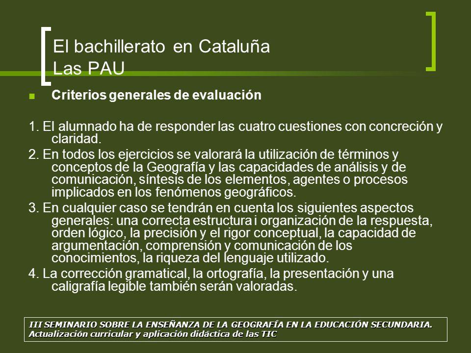 Estructura de la PAU para el examen de Geografía: La prueba tiene dos opciones (A y B) para escoger una de ellas.