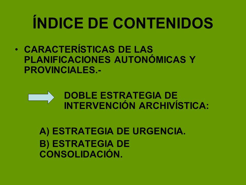APLICACIÓN DE LA ESTRATEGIA DE URGENCIA GUIPÚZCOA.- Entre 1980 y 1988, la Diputación Foral desarrolló un programa que organizó la práctica totalidad de los archivos municipales.