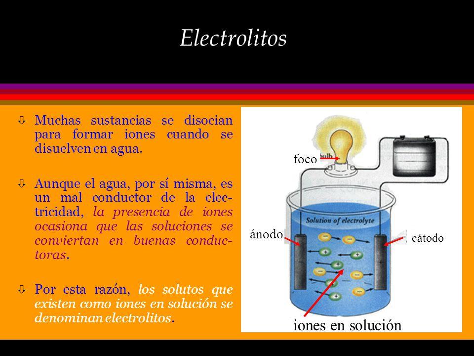 Electrolitos Imagine usted dos soluciones acuosas preparadas una con sal y la otra con azúcar como solutos, ambas son transparentes, incoloras e inodo