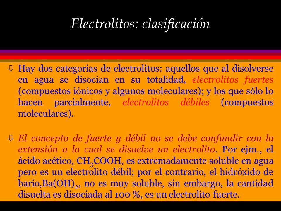 No-electrolitos Muchas otras sustancias moleculares no forman iones cuando se disuelven en agua, y se les denomina no- electrolitos porque forman solu