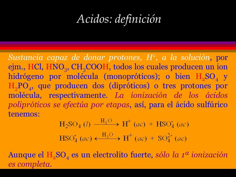 Acidos y Bases Los ácidos, bases y sales son los compuestos más familiares en nuestra vida cotidiana, y además los electrolitos más comunes: