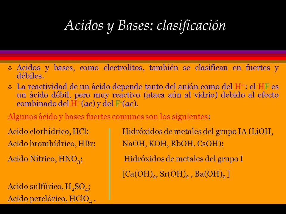 Bases: el amoníaco…un caso especial Cuando el amoniaco, NH 3, se adiciona al agua acepta un ion H + del agua, incrementando así la concentración de io
