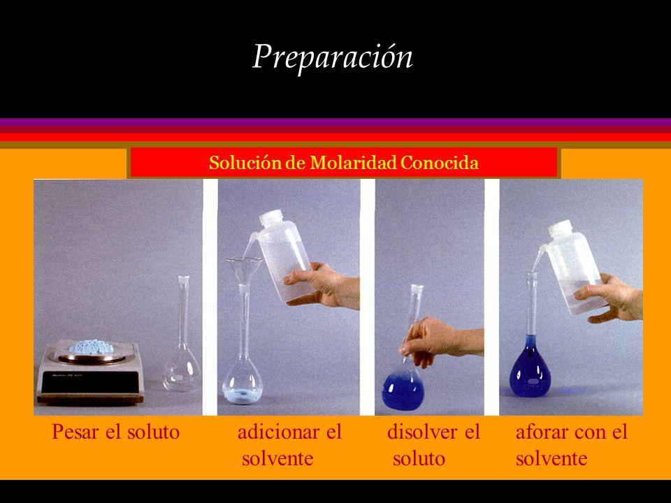 Concentración ò La composición de una solución, es decir, la cantidad de soluto disuelto en una cantidad dada de solvente (o aún de solución) se expre