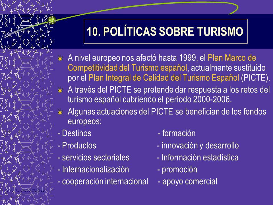 A nivel europeo nos afectó hasta 1999, el Plan Marco de Competitividad del Turismo español, actualmente sustituido por el Plan Integral de Calidad del