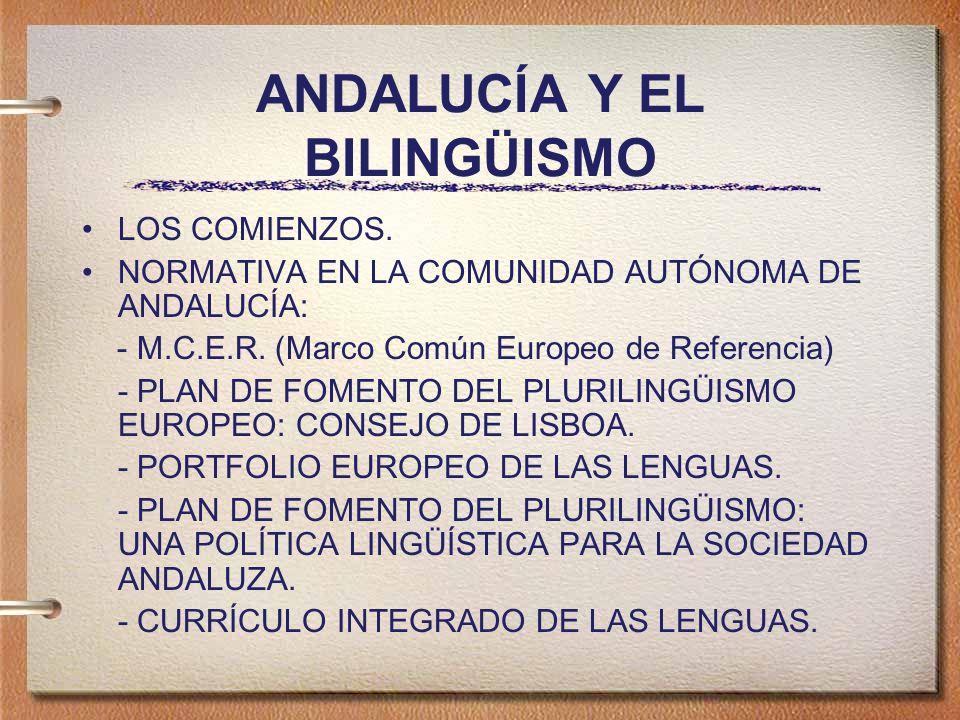 ANDALUCÍA Y EL BILINGÜISMO LOS COMIENZOS.