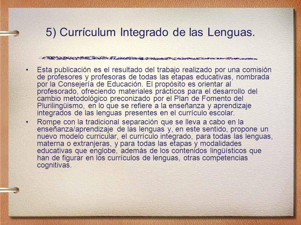 5) Currículum Integrado de las Lenguas.