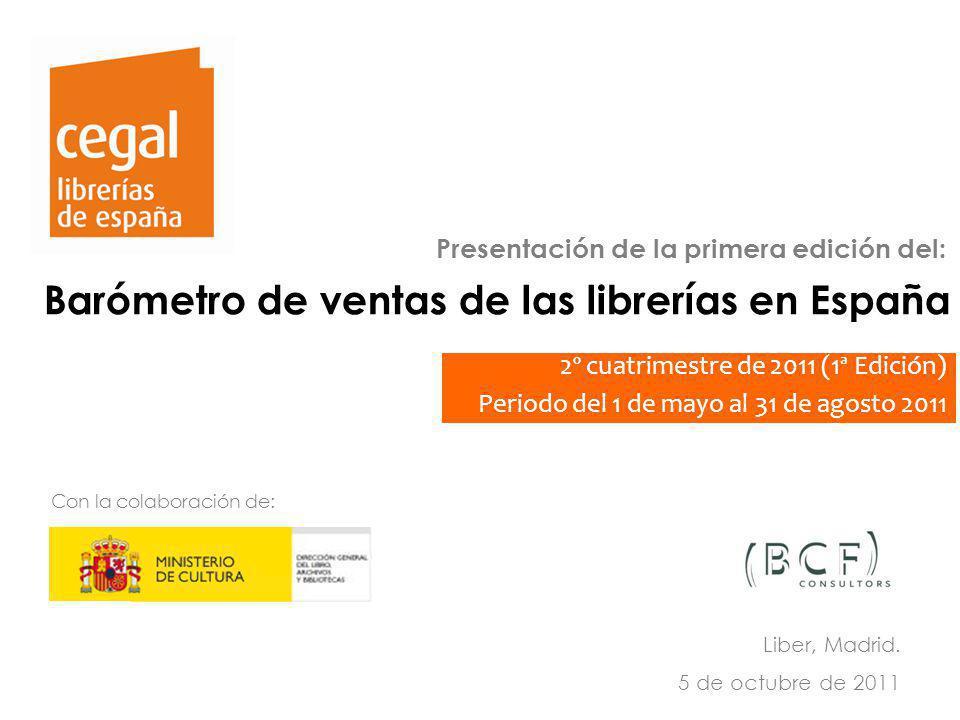 Sistema de indicadores estadísticos y de gestión de la librería en España (2010) Observatorio de la Librería 27 Barómetro de ventas de las librerías e